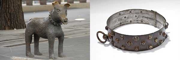 dog-sculpture-dog-collar