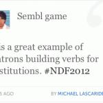 Sembl @ NDF2012