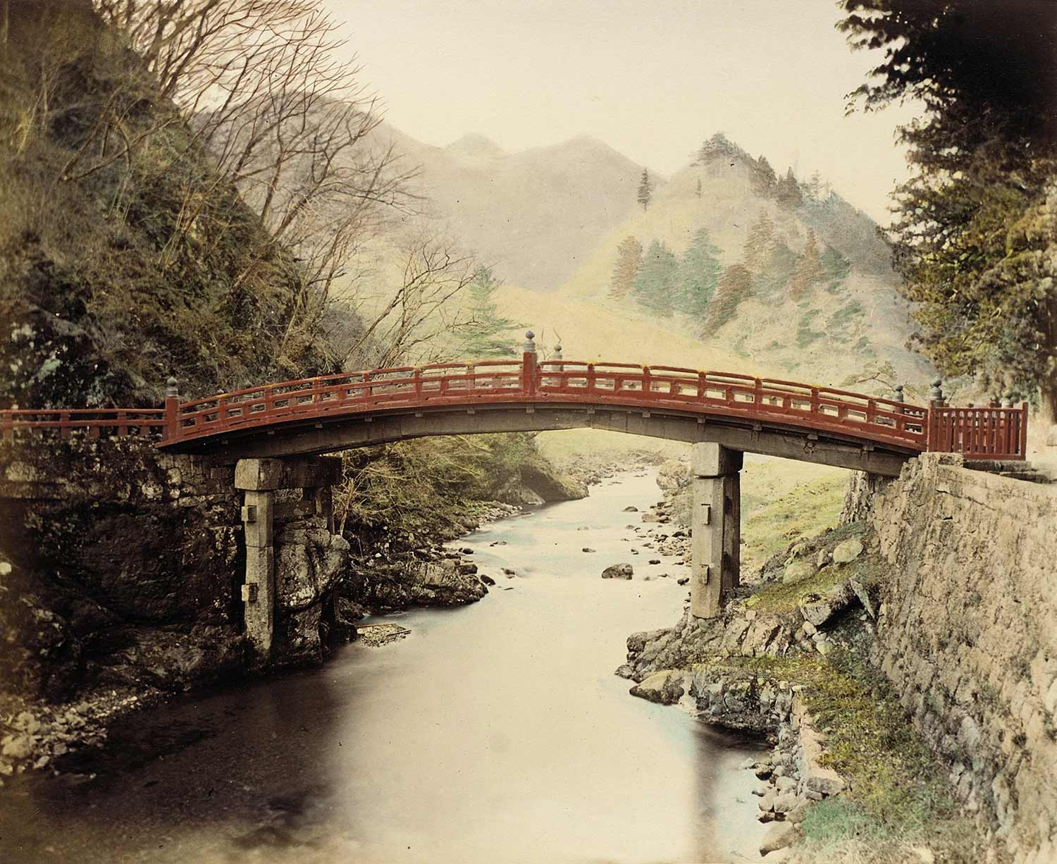 sacred bridge over a river